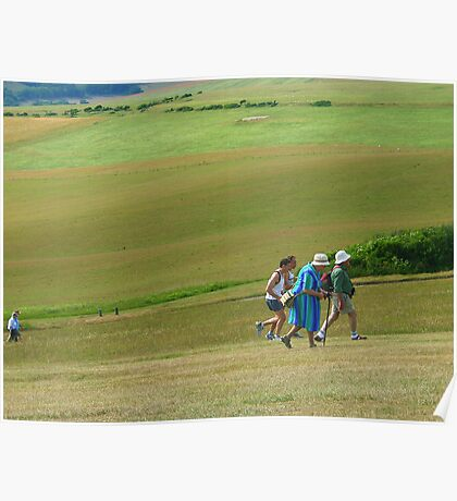 Rushing up the Hill, Beachy Head Poster