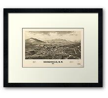 Panoramic Maps Keeseville NY 1887 Framed Print