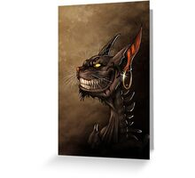 Alice in wonderland - Cheshire cat Greeting Card
