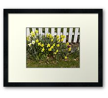 Look who just popped up! Framed Print