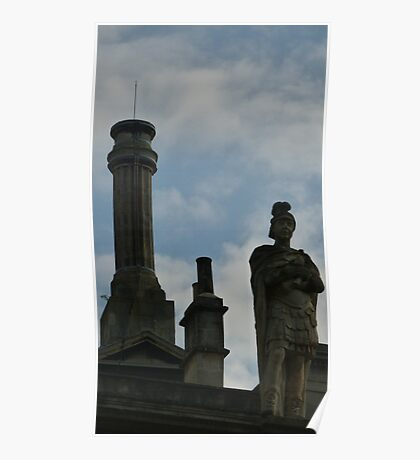 The statu of Roman Bath  Poster