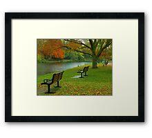 Park Benches, Stratford-upon-Avon Framed Print