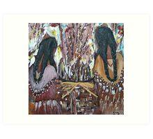Navajo sisters Art Print