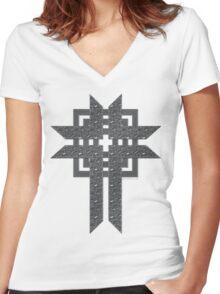 Steel Cross Women's Fitted V-Neck T-Shirt