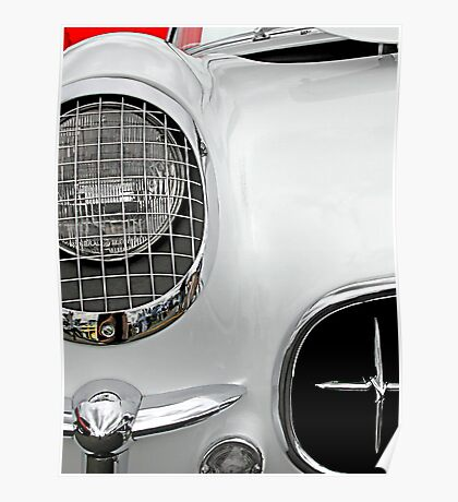 55 Corvette White Poster