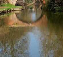 Canal Reflection, Market Harborough by KUJO-Photo