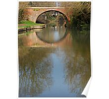 Canal Reflection, Market Harborough Poster