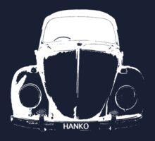 VW Beetle - White HANKO - personalised by melodyart