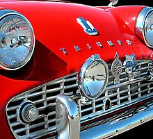 TRIUMPH TR3 RED 2 by Rich Norris