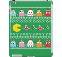 Get Ready! Christmas Pac-Man (GREEN) iPad Case/Skin