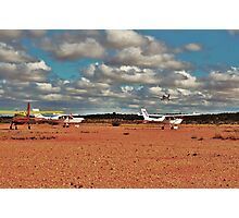 Flight Club fly in.....one off....three waiting to go Photographic Print