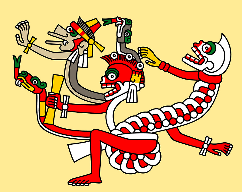 Red aztec Monster - Codex Laud 44 by Gwendal