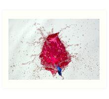 Bubble: Cerise and Blue Art Print