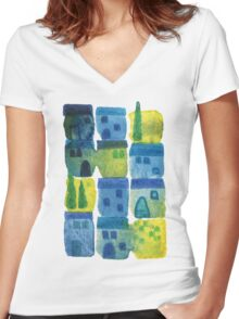 7am in Tuscany Women's Fitted V-Neck T-Shirt