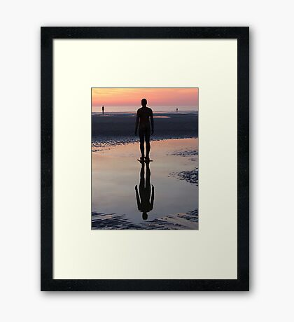 Staring at the Sea, Crosby Beach Framed Print