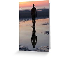 Staring at the Sea, Crosby Beach Greeting Card