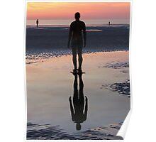 Staring at the Sea, Crosby Beach Poster