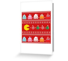 Get Ready! Christmas Pac-Man (RED) Greeting Card