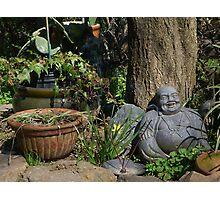 Chilling Buddha Photographic Print
