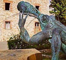 Chianti Frog Fountain by Lynnette Peizer