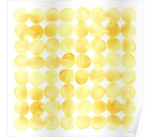 Imperfect Geometry Yellow Circles Poster