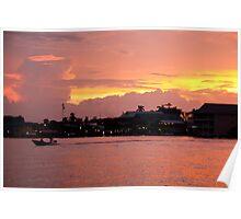 Sunset on Bocas Poster