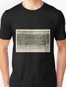 Panoramic Maps Aero view of Fitchburg Massachusetts 1915 Unisex T-Shirt