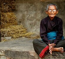 An Old Woman in Bhaktapur by Valerie Rosen
