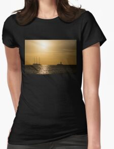 Tallship - Sunny Harbor Approach Womens Fitted T-Shirt