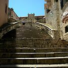 Stairway to Virgin Mary Assumption Cathedral, Dubrovnik. by Michele Filoscia