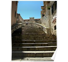 Stairway to Virgin Mary Assumption Cathedral, Dubrovnik. Poster