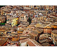 Siena Rooftops Photographic Print