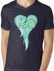 Lyra Heart Mens V-Neck T-Shirt