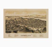 Panoramic Maps Catskill NY Baby Tee