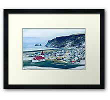 Town of Vík, Iceland  Framed Print