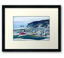 Town of Vík, Iceland  Framed Print