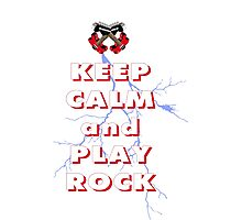Keep calm and play rock Photographic Print