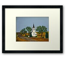 Church by the country road  Framed Print