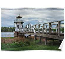 Doubling Point Light, Maine Poster