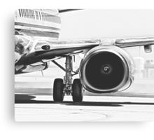 Boeing 737 & CFM56 Turbofan Engine Canvas Print