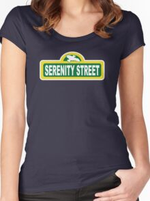 SHINY PLACE Women's Fitted Scoop T-Shirt