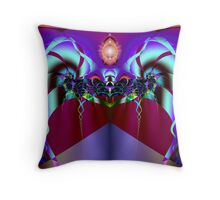 Back Massage: Chakras & Energy Meridians  (UF0765) Throw Pillow
