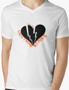 Feel The Lightning (Black) Mens V-Neck T-Shirt