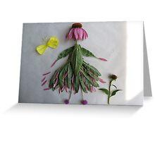 Prairie Coneflower Girl Greeting Card