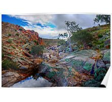 At The Top - Mannum Falls, Murraylands, South Australia Poster