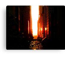 Manhattanhenge Sunset - Times Square - New York City Canvas Print
