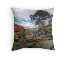 Waiting for Winter Rains - Mannum Falls, Murraylands, SA Throw Pillow