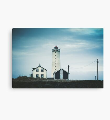 Grotta Lighthouse Canvas Print