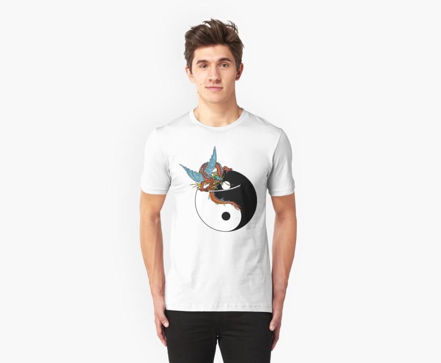 Yin Yang Dragon T-Shirt by AsianT-Shirts