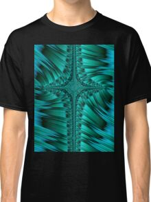 Green Cross Abstract Classic T-Shirt